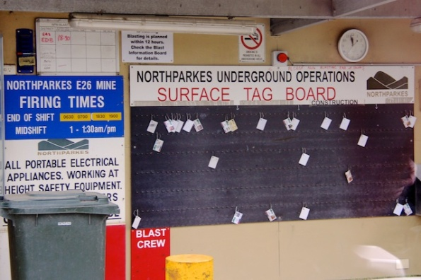 Surface tag board.
